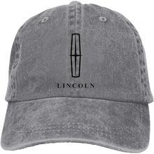 Męska regulowana czapka typu Trucker Lincoln odznaka fajna czapka sportowa, szara
