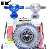 traxxas trx 4 defender axial scx10 ii aluminum spare wheel tyre locking tool nut for 110 rc crawler car accessories
