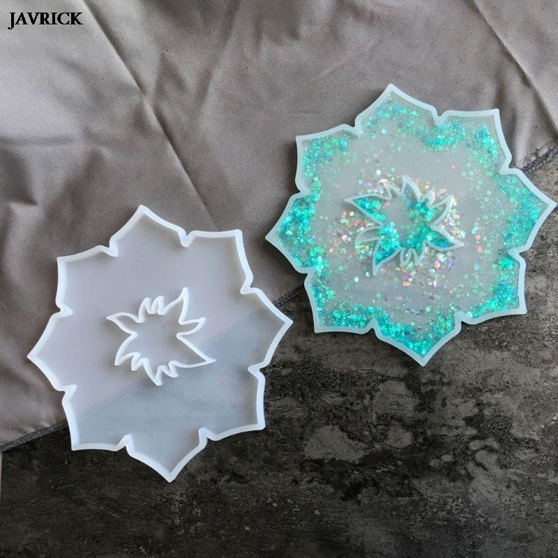 Flor montaña rusa de molde de resina Epoxy Irregular bandeja de molde de silicona para manualidades de plato de fruta joyas de decoración herramientas para hacer