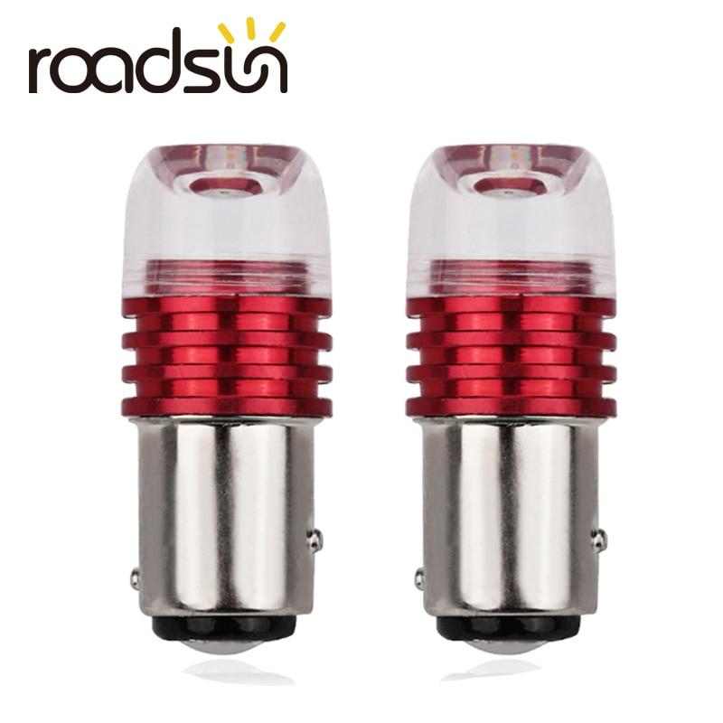 2 sztuk auto 1157 led BAY15D P21/5W t20 7443 światło stroboskopowe światło hamulca lampa błyskowa żarówka DC12 czerwony biały Auto światło Stop