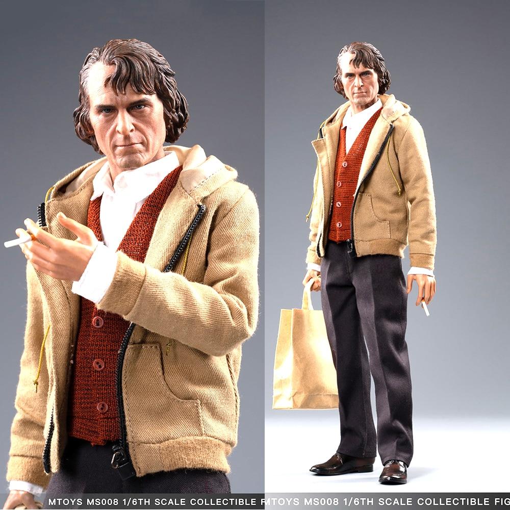 "Full set In stock MTOYS MS008 1/6 ClownThe Joker Arthur Fleck Joaquin Casual Wear Ver. Figure Toy 12"" Figure body Model Toys"