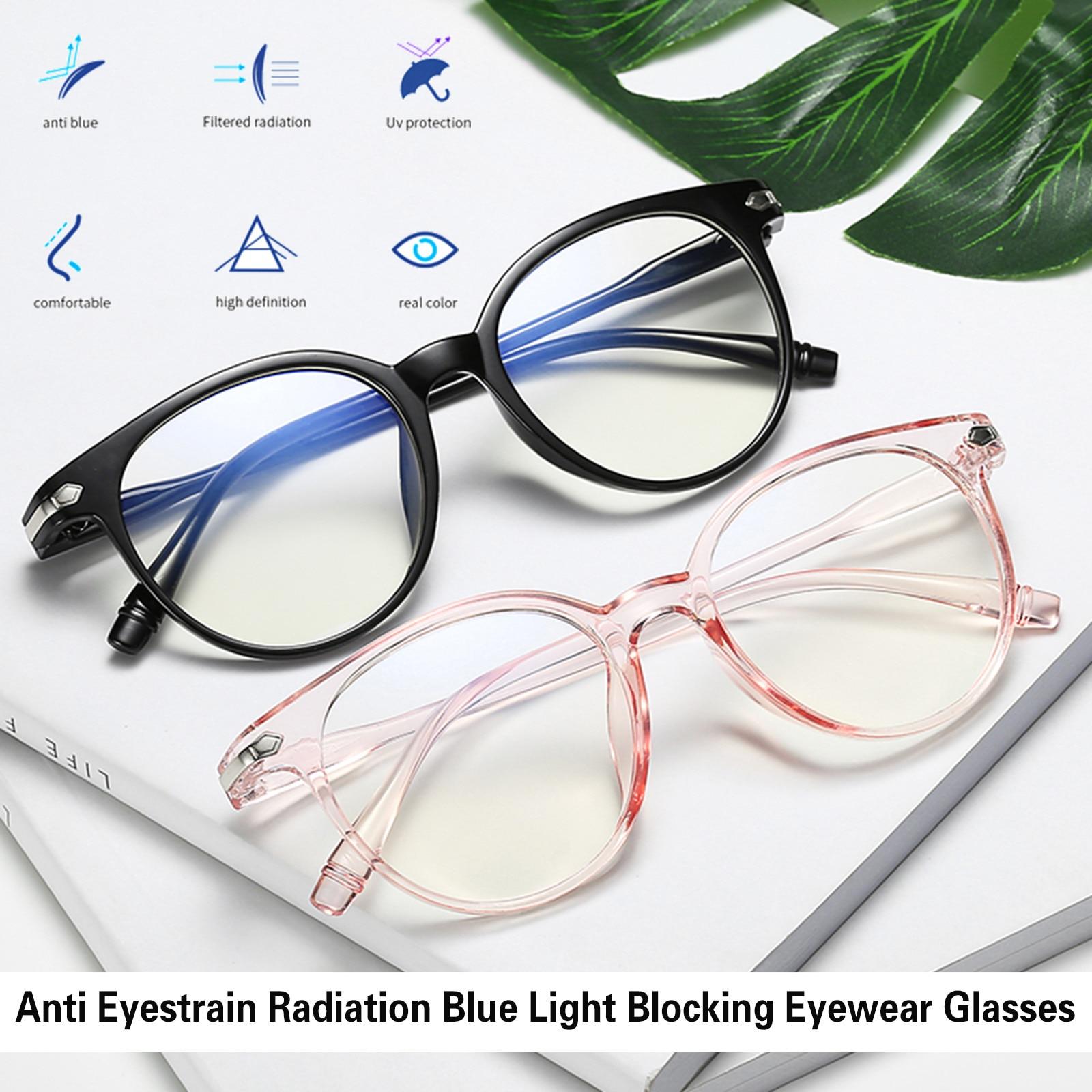 2021 Office Anti Blue Light Glasses Men Computer Glasses Gaming Transparent Eyewear Frame Women Anti