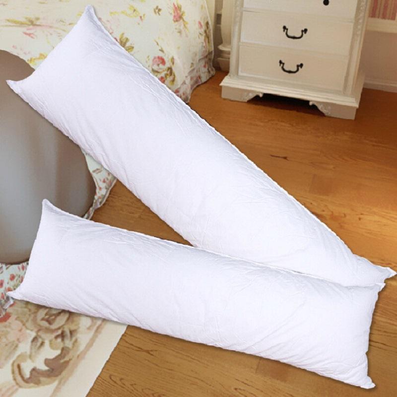 28 وسادة طويلة الداخلية الأبيض الجسم حشوة وسادة أنيمي مستطيل النوم Nap وسادة المنزل غرفة نوم الأبيض الفراش اكسسوارات 150x50 سنتيمتر