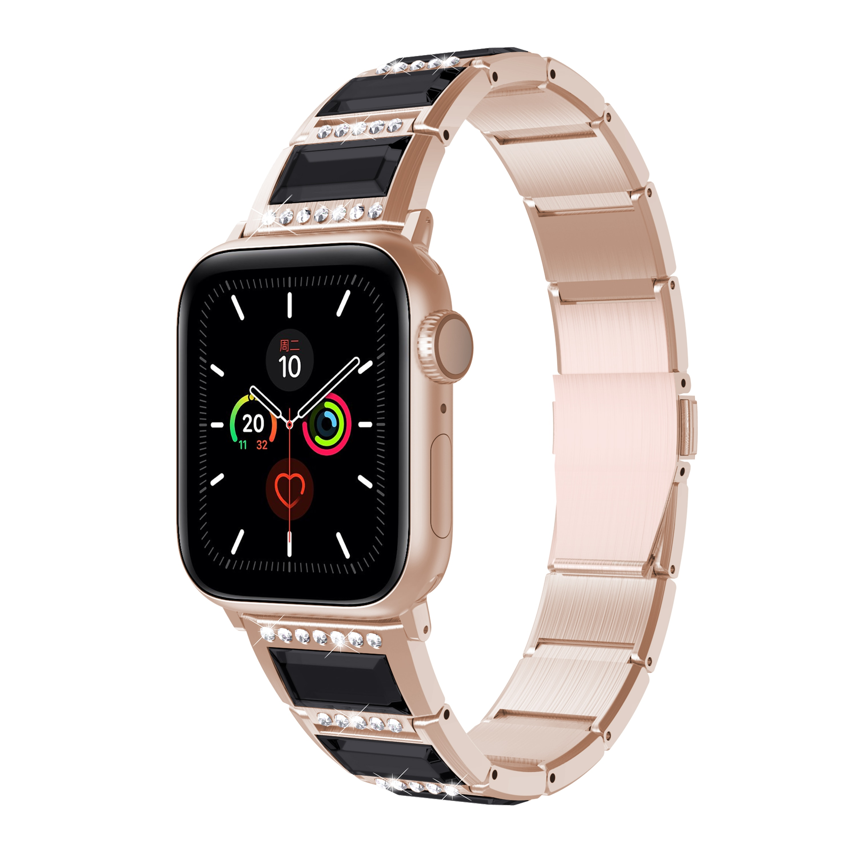 Brandnew Stainless Steel Watchbands For Apple Watch1/2/3/4/5 Jade Wristband Smart Watch Fashion Jewe