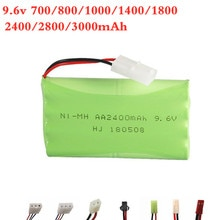 9.6V 700mAh 800mAh 1000mAh 1800mAh 2400mAh 2800mAh 3000mAh Ni-Cd / Ni-MH Battery For RC Toy Eletric