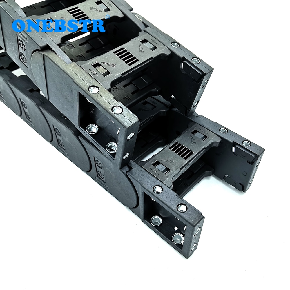 1 Meter 45x150mm Bridge Type Transmission Drag Chain Wire Carrier Cable Plastic Towline CNC Engraving Machine Large Equipment