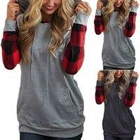 womens pullover loose hooded sweatshirt ladies blouse long sleeve hoodies tops