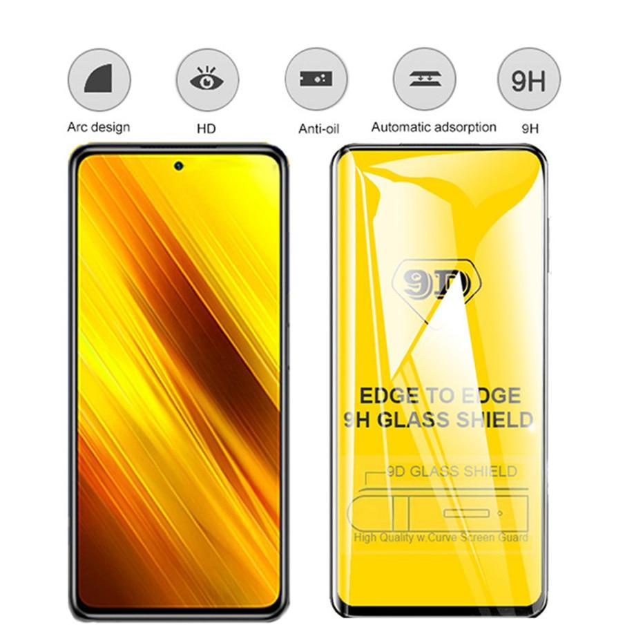 1~10 kits, camera film + protective glass for poco-x3 nfc tempered glass pocophone x3 xiaomi poco x 3 screen protector poco x3 enlarge