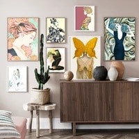 Toile dart mural de decoration de maison  peintures de Style nordique  images de femmes a la mode  imprimes Hd  affiche moderne modulaire pour chambre a coucher