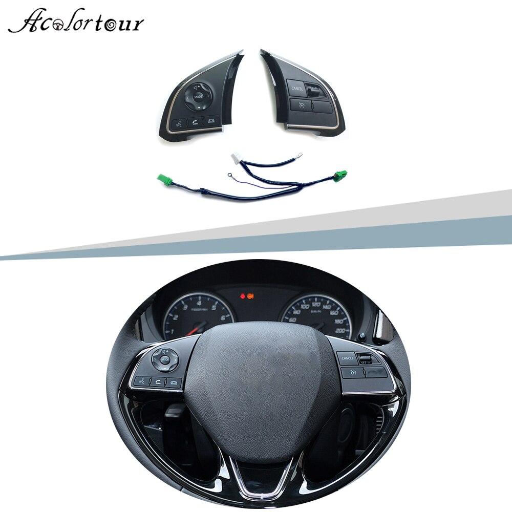 Interruptor de Control de crucero de volante multifunción, botón de Audio Bluetooth para teléfono Mitsubishi Outlander 2016-2018 xpanter ASX