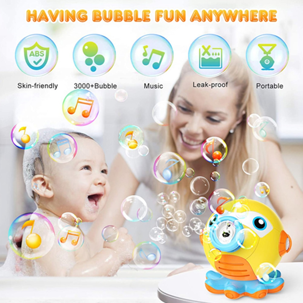 Automatic Cartoon Bubble Maker toys Soap Water Bubble Machine Fun Bubble Maker Summer Toys For Children Toddlers Indoor Outdoor
