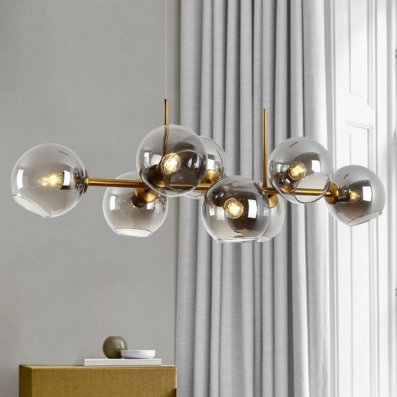 مصباح سقف زجاجي معلق led ، تصميم حديث ، إضاءة زخرفية داخلية ، مثالي لغرفة المعيشة أو المطبخ أو غرفة النوم.