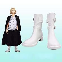 Tokyo Revengers Swastika Sano Manjiro Cosplay Shoes Boots Unisex White Trend