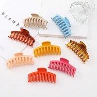 1pc korean solid hair claws elegant clear acrylic hair clips hairpins barrette headwear for women girls hair accessories gifts