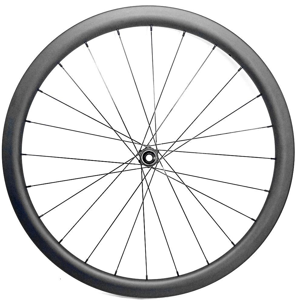 700c disc road bike wheel front wheel 671g road bike wheel tubeless D411SB hubs thru carbon wheels 45x27mm Asymmetry 100x12mm