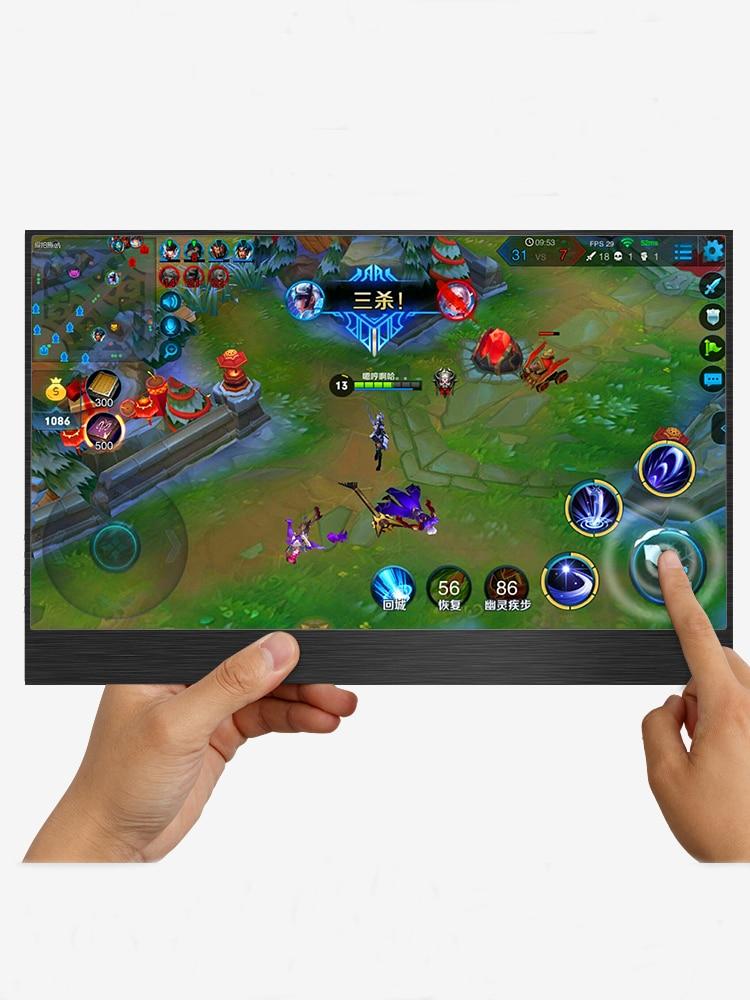 1080P Touch 15,6 tragbare monitor Mit Typ-C, 13,3 inch tragbare LCD monitor HDR ultra dünne display für Mac/PC/smart telefon/PS4