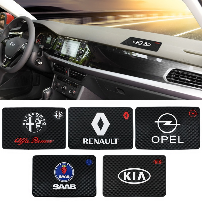 Противоскользящая Накладка для автомобиля, силикагель, липкая накладка, приборная панель, мобильные телефоны, полка, подушка для Subaru BMW Audi Kia Opel Ford Chevrolet, Skoda