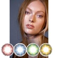CALK 2 pièces lentilles de Contact colorées lentilles pour les yeux lentilles de Contact cosmétiques effet naturel exclusif