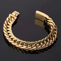 new trendy cuban chain bracelet mens bracelet metal tie buckle chain bracelet accessories party jewelry