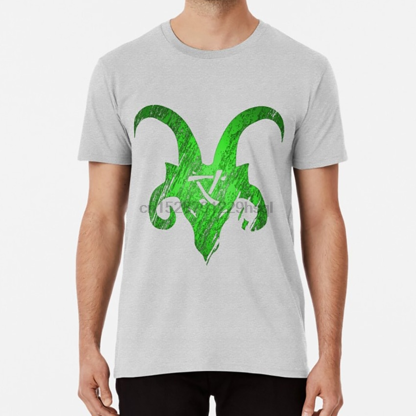 Camiseta verde con cuernos Skaven Camiseta con estampado de patrón de cuernos de rata de cuerno skaven S-5XL talla asiática Extra grande