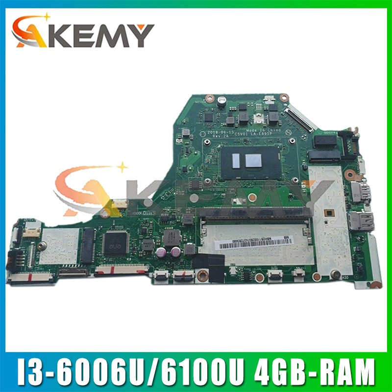 لشركة أيسر أسباير A315-51G A515-51G A517-51G A615-51G اللوحة المحمول C5V01 LA-E891P W/ I3-6006U/6100U 4GB-RAM 100% اختبار بالكامل