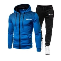 2021new bmw m mens football sets zipper hoodiepants two pieces casual tracksuit male sportswear gym brand clothing sweat suit