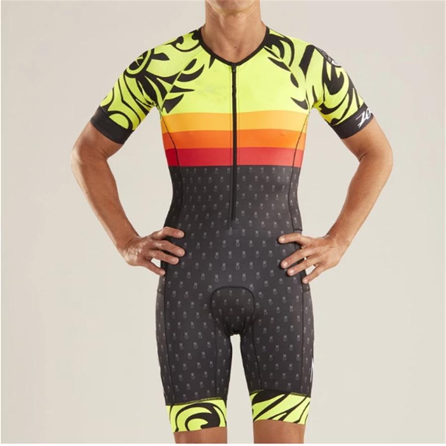 ZOOTEKOI 2020 Triathlon Pro Camisa de Ciclismo Set Homens Skinsuit Maillot Bicicleta Roupas de Ciclismo Bicicleta de Manga Curta Macacão Ciclismo