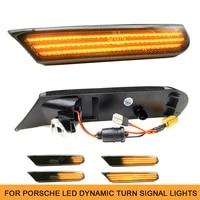 dynamic led front side marker indicator sequential blinker light for porsche 911 typ carrera 996 997 carrera 4 boxster 986 targa