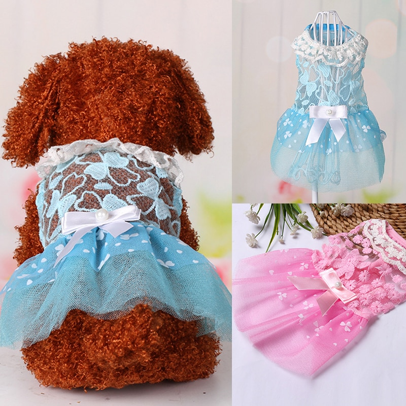 Summer Pet Clothes Wedding Dog Dress For Dogs Skirt Summer Princess Dog Dresses Clothes For Dogs Skirts York Pet Chihuahau Dress