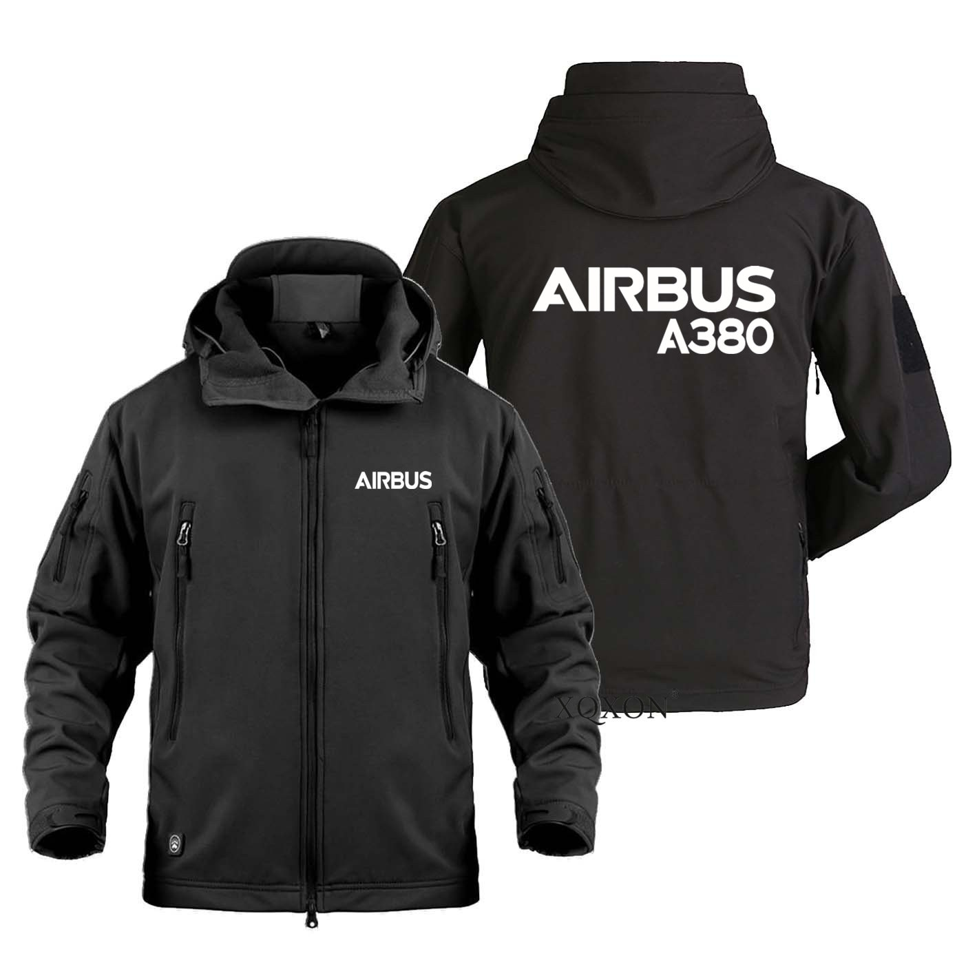 S-4XL Airbus A380 New Flying Aviation Jackets for Men Hot Trip Military Outdoor SoftShell Adventure Travel Man Coat Jacket K721