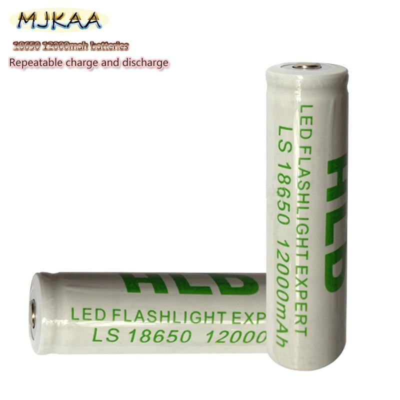 10 Uds. 18650 batería 3,7 V 12000mAh Li-ion recargable para linterna Led batería Litio