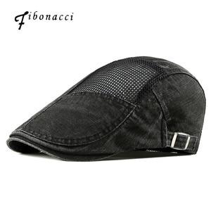 Fibonacci Summer Beret Men's Thin Newsboy Cap Hollow Mesh Sunscreen Sun Hat Literary Retro Cabbie Flatcap Hats Women Ivy Caps