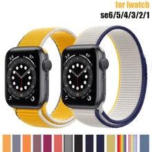 Nylon Strap for Apple Watch 44mm 40mm 42mm 38mm Sport loop band iwatch 1 2 3 4 5 6 bracelet belt cor