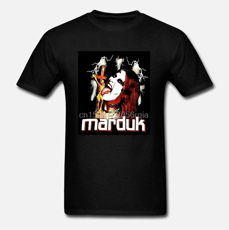 Vintage MARDUK camiseta sin usar negro metal mayhem darkthrone death 100% Camiseta de algodón de manga corta de verano