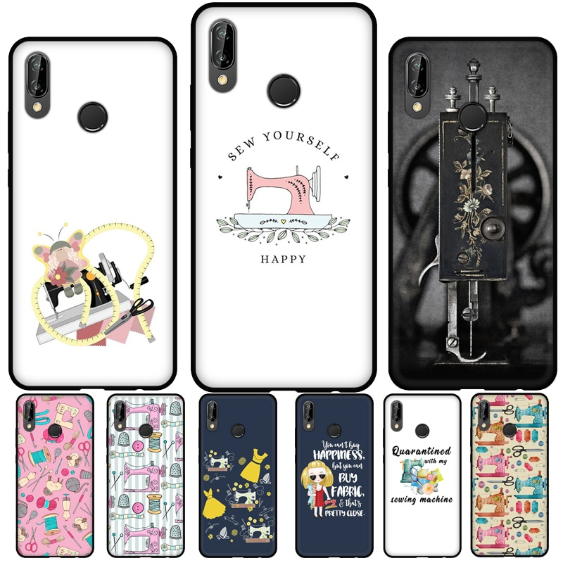 Sewing Machine Pattern Silicone Case For Huawei P30 Lite P40 P20 Pro P Smart Z 2021 2019 Mate 20 Lit