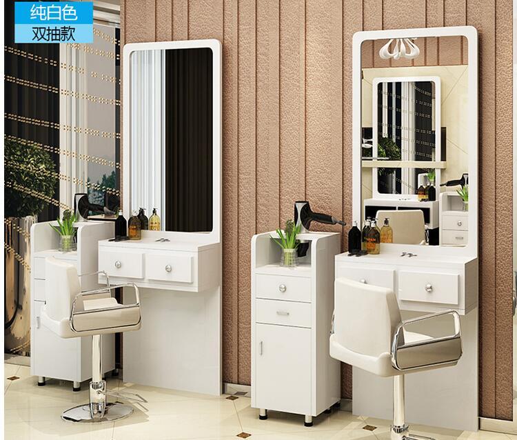 Косметическое зеркало простой парикмахерский салон односторонняя студия волос зеркало наземная современный Ретро Зеркало для примерки па...