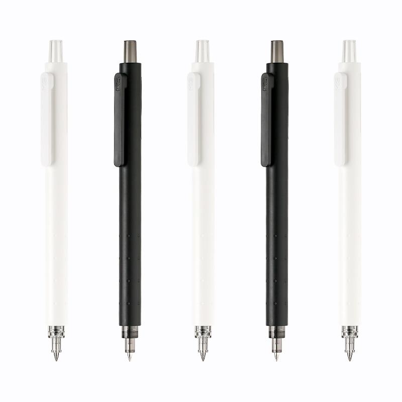 Kaco foguete gel caneta simples preto pólo branco 0.5mm imprensa mi gel caneta kacogreen tinta preta esferográfica para a escola & escritório