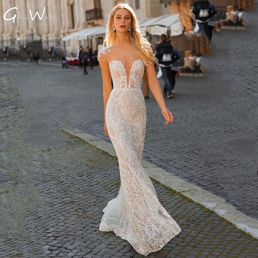 Vestido De Novia De encaje De sirena, moderno vestido De Novia De...