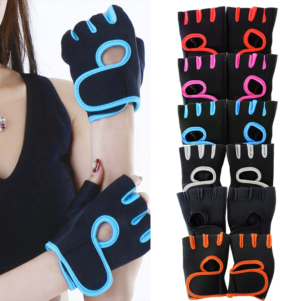 Sfit 1Pair Men Women Gym Half Finger Sports Fitness Exercise Training Wrist Gloves Anti-slip Resistance Weightlifting Gym Gloves high quality sports gym gloves wrist weights fitness men gloves half finger breathable anti skid silica women gloves