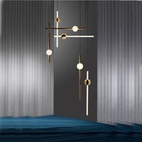 Post-modern Art Restaurant Pendant Lamp Nordic Simple Dining Table Bedside Bed Three Round Bar Cosmos Pendant Lights pendant