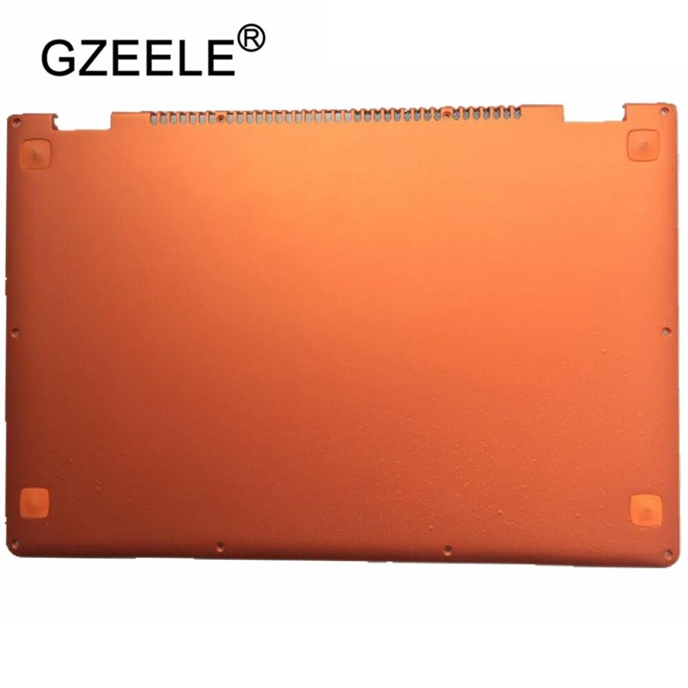 GZEELE تستخدم الكمبيوتر المحمول استبدال غطاء لينوفو اليوغا 13 البرتقال D قذيفة 11S30500246 المحمول أسفل قاعدة غطاء الغطاء السفلي