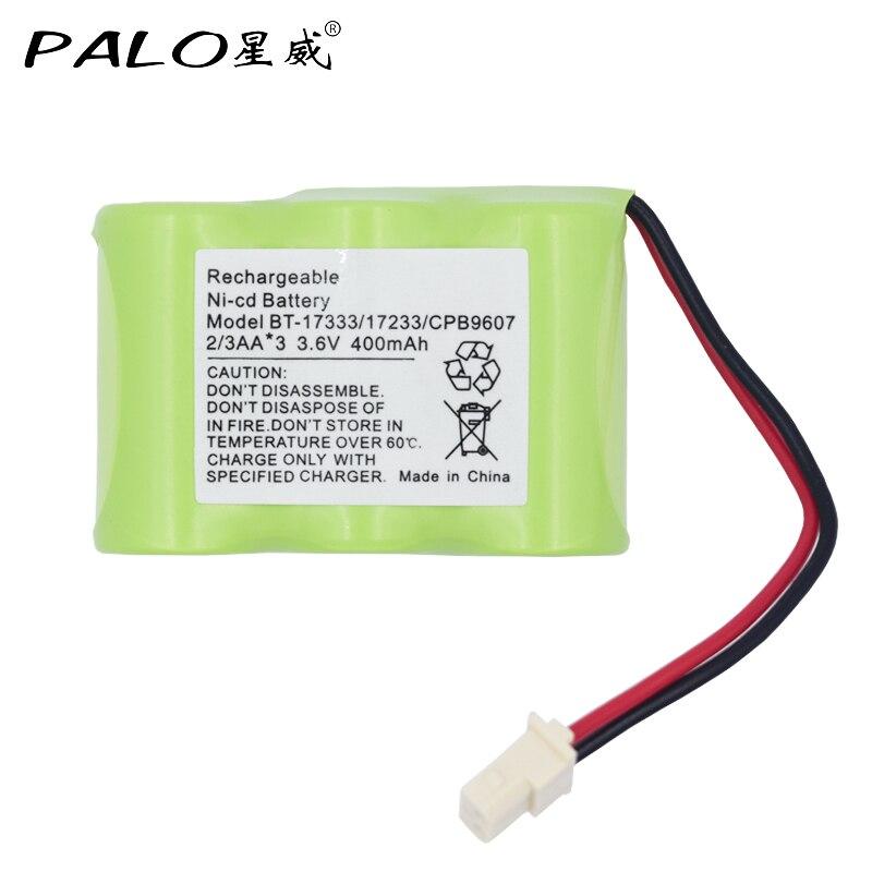 PALO 3.6V 400mAh NiMH Bateria Recarregável Sem Fio BT-17333 CPB9607 Substituição Pacote BT-163345 BT27333 FF1765S FF1770 FF1775