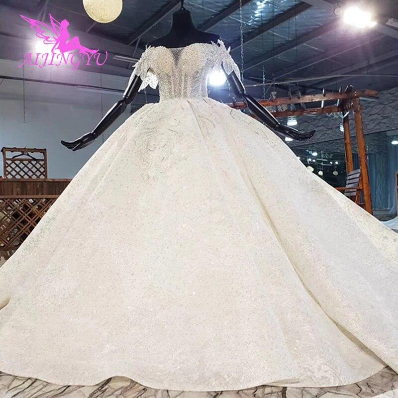 AIJINGYU فستان زفاف عالي الجودة من غوانزو, فستان زفاف للأميرة التشيلي سوتشو بأحجام كبيرة 2021