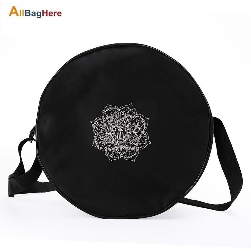 Bolsa de rueda de Yoga de Nylon Mandala Flor de diámetro 36CM bolsa de rueda de Yoga de gran capacidad doble cremallera Pilates rueda mochila bolsa de Fitness