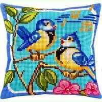 latch hook kits diy 3d segment embroidery pillow embroidered handcraft pillow case animal bird package coarse wool cross stitch
