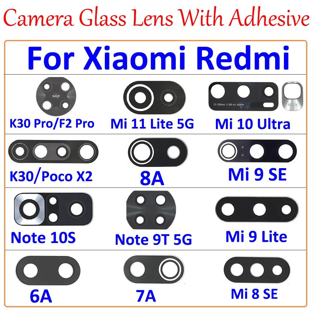 100 قطعة ، كاميرا زجاج عدسة مع ملصق ل شاومي Mi 9SE 10 الترا 11 لايت Poco F1 F2 برو X2 Redmi 6A 7A 8 9 K30 10Pro نوت 10S 9T
