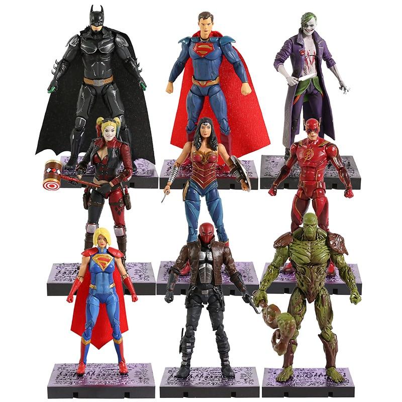 DC Injustice 2 Batman Superman Wonder Woman Joker Harley Quinn Flash Supergirl PVC Figure Collectible Model Toy