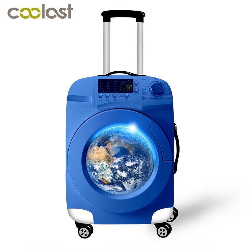 Cubiertas de equipaje elástico para estuche de 18-32 pulgadas, accesorios de viaje portátiles para embalaje, divertida funda protectora para maleta con estampado de perro