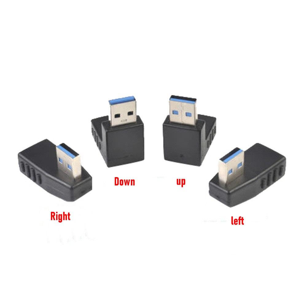 Cable de extensión macho A hembra USB 3,0 A, adaptador de ángulo...