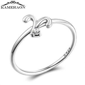 Женское Винтажное кольцо Twelve с Созвездие Овна, маленькое кольцо с цирконием, Настоящее серебро 925 пробы, подарок для девушек, 2021
